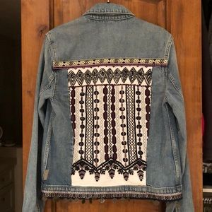 Paige Embroidered Denim Jacket (Worn Twice)